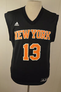 newest collection 96b2b 4bbea Details about Adidas New York Knicks Jersey #13 Steven Barber NBA  Basketball Adult Small Black