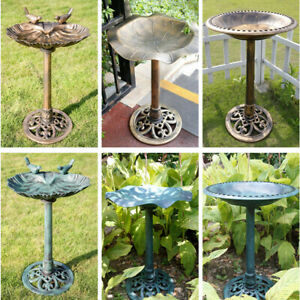 VIVOHOME-Bird-Bath-Feeder-Outdoor-Pedestal-Stand-Water-Bowl-Garden-Yard-Decor