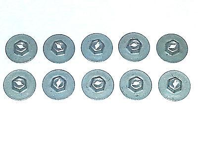 Dodge Plymouth Trim Molding Clip Emblem Pal Thread Cutting Speed Nuts 10pcs H