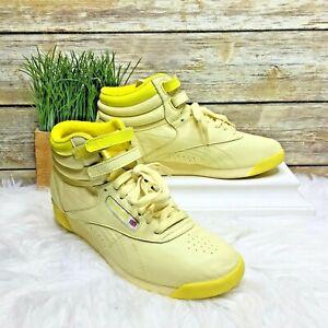 Reebok Freestyle Hi Yellow Classic