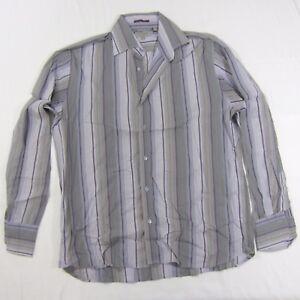5b951d9b144 Men s TED BAKER London L S Casual Shirt Dark Purple Grey Striped ...
