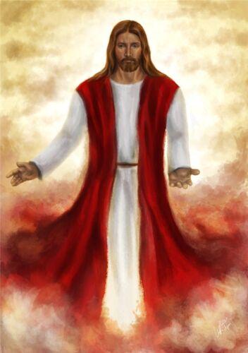 "Jesus Christ Art Silk Fabric Poster 34/"" x 24/""  J031"