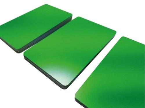 100 Plastikkarten GRÜN MATTPremium Qualität PVC KartenKunststoffkarten