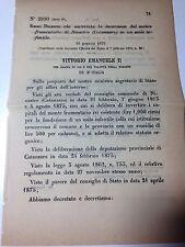 Regio Decreto 16/01/1876 Inversione Monte frumentario in asilo (Catanzaro) -776