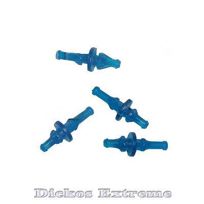 4 Pack UV Blue - Anti-Vibration Fan Mounts (Vibration Isolators) -Open Corners