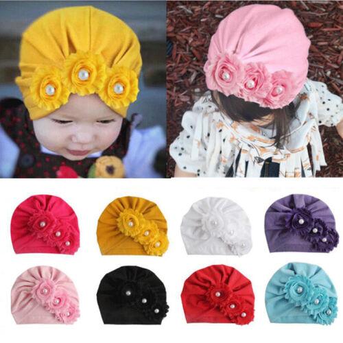 Cute Newborn Headband Hat Cotton baby Infant Turban Headband Head Wrap For Girl@