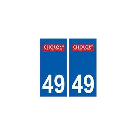49 Cholet logo autocollant plaque stickers ville -  Angles : droits