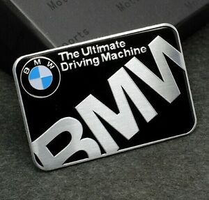 metal car decals badge emblems stickers for bmw the ultimate driving machine mew ebay. Black Bedroom Furniture Sets. Home Design Ideas