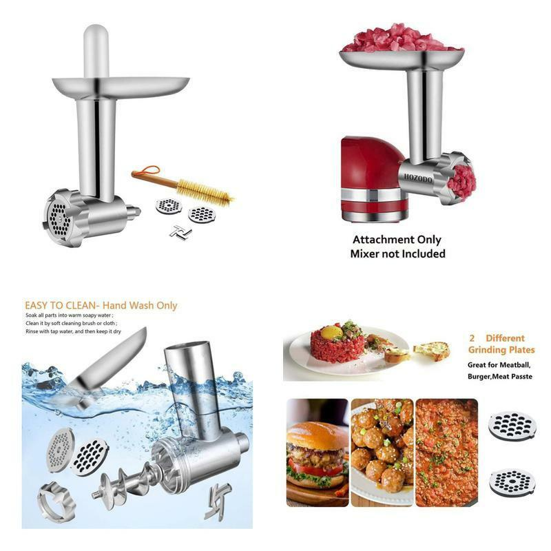 Metal Food Meat Grinder Attachment Compatible with Kitchen Aid Stand Mixers