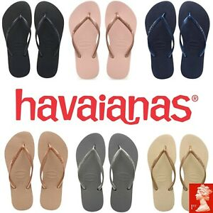 Original-Havaianas-Slim-Women-Flip-Flops-many-Colours-over-40-off-RRP