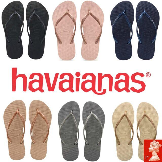 "HAVAIANAS WOMEN/'S FLIP FLOPS /""SLIM ANIMALS/"" WHITE//GREY 26 BRASIL 39//40 UK 6//7"