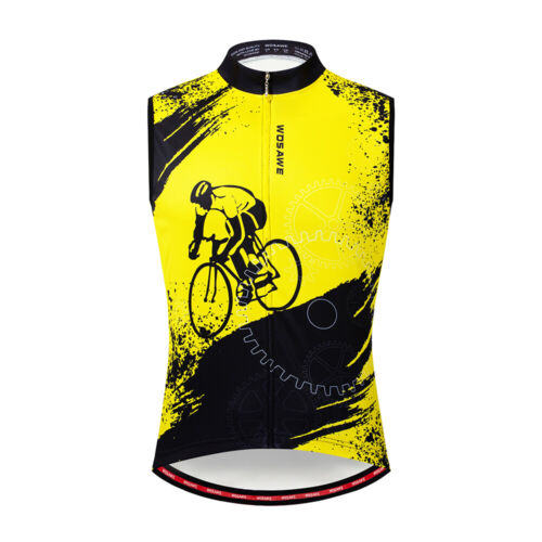 Mens cycling sleeveless jersey Racing Vest summer bike shirts bicycle Gilet Tops