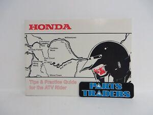 genuine honda tips practice guide for the atv rider 00x51 atv 6000 rh ebay com Tips Practice Test Tips Practice Sticks