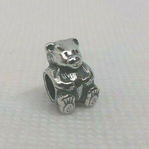 Authentic-PANDORA-Sterling-Silver-Charm-TEDDY-BEAR-790395