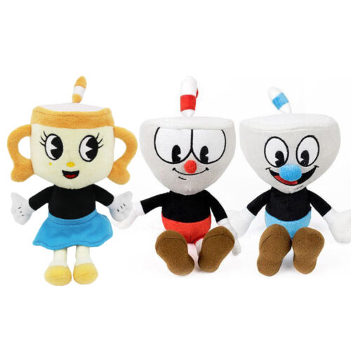 Cuphead /& Mugman Ghost Chalice Devil Boss Demon King Dice Plush Figure Doll Toys