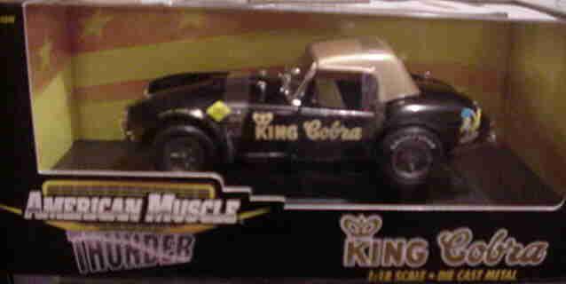 1965 SHELBY BALDWIN MOTION KING COBRA Noir 1 18 ertl american muscle 33059