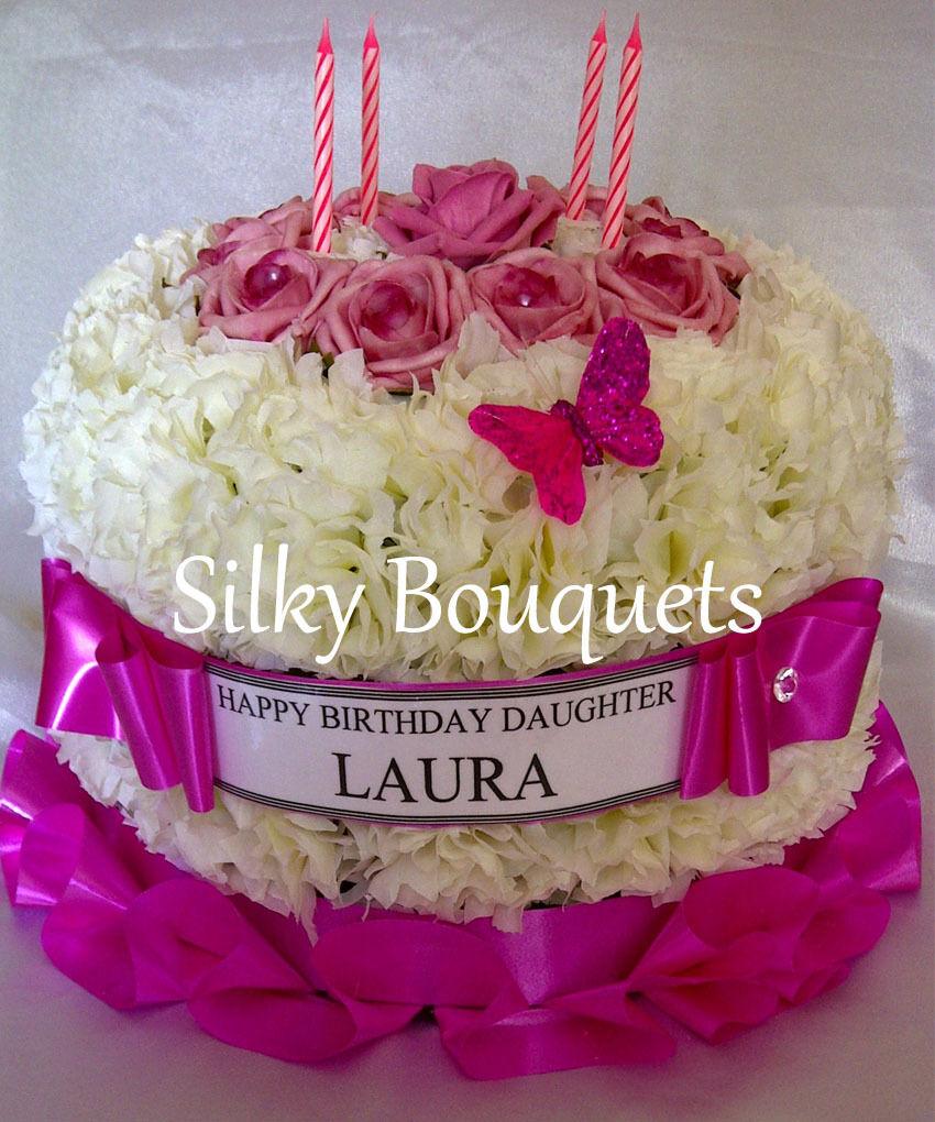 Astonishing Artificial Silk Flower Birthday Cake Memorial Wreath Anniversary Funny Birthday Cards Online Elaedamsfinfo