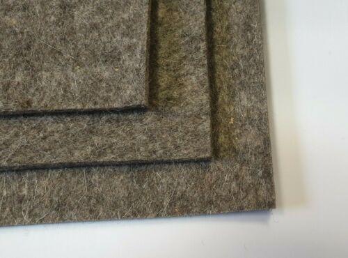 Filz Grauer Wolle 2 3 4 5 mm grau Filzmatte Filzplatte Industriefilz 100mmx100mm