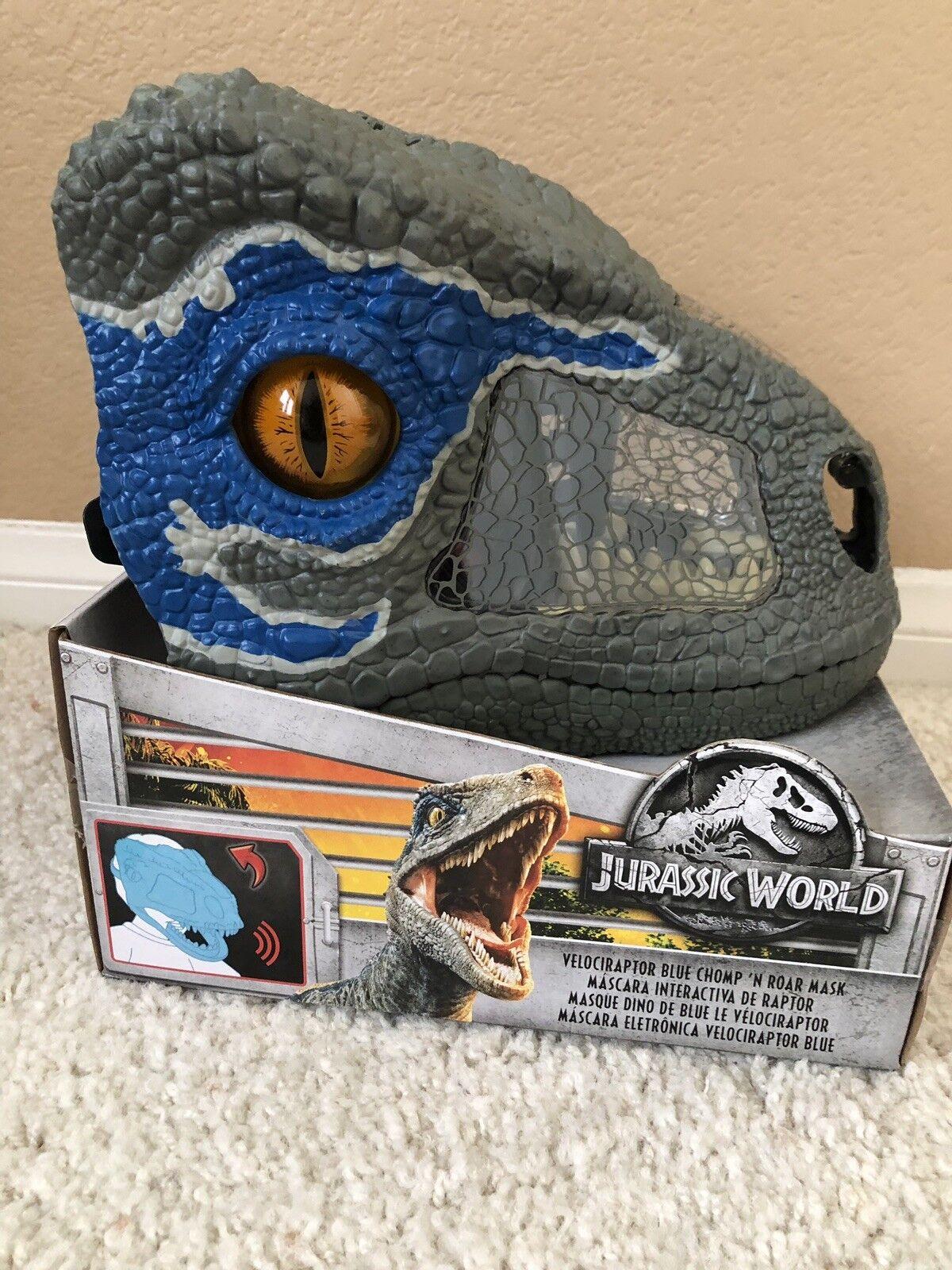 Jurassic World Fallen Kingdom Velociraptor  Blau Mask Chomp N Roar 2018