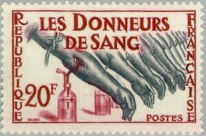 EBS-France-1959-Blood-Donation-Les-Donneurs-de-Sang-YT-1220-MNH