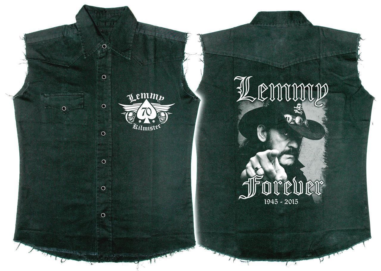 Official Licensed - Lemmy - Forever Ärmellos Arbeitshemd Metall Motorhead