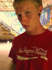 NEW SMYRNA BEACH FLORIDA in Coca-Cola Font 100% Cotton Size L T-Shirt