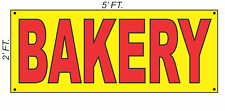 Giant Bakery Banner Sign 2x5 Yellow Amp Red Bright High Visibility
