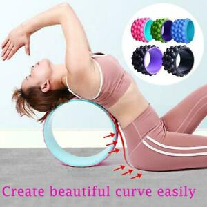 yoga wheel exercise fitness pilates ring stretch roller wo