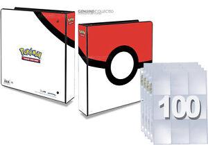1-800-Card-Cap-9-Pocket-x-100-Pages-Pokemon-Album-3-Ring-Storage-Binder-Folder
