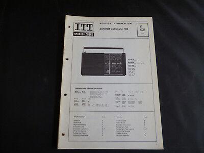 Original Service Manual Itt Schaub Lorenz Junior Automatic 105 Kaufe Eins Tv, Video & Audio Bekomme Eins Gratis