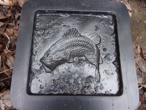 Bass fish tile mold plaster cement travertine casting mould