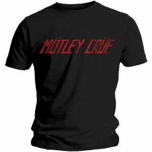 MOTLEY-CRUE-Distressed-Logo-Mens-T-Shirt-Unisex-Official-Licensed-Band-Merch