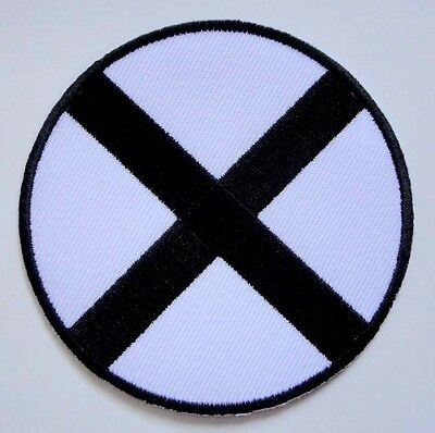 X Cross Round Embroidered Iron on Patch Free Shipping