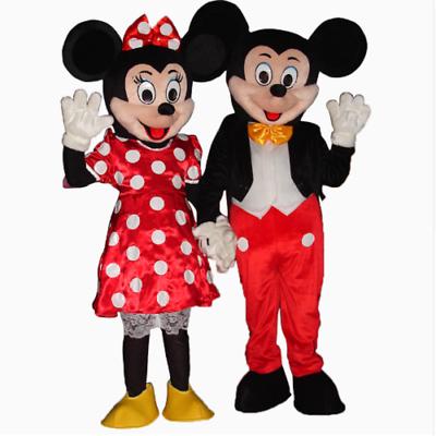 Paar Maskottchen Kostüm Für Erwachsene Minnie Und Mickey Mouse Mickey Mouse Neu QualitäT Zuerst