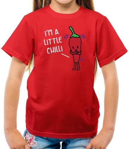 I/'m A Little Chilli Pun Food Band Funny Kids T-Shirt Joke Punny