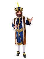 Mens Tudor King Henry The 8th Viii Fancy Dress Costume Book Week Adult Royal
