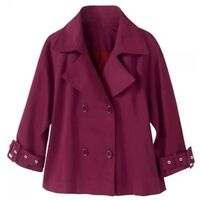Spiegel Signature Collection Dark Wine Double Breasted Sateen Jacket 6 8