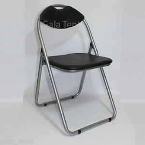 Black-Folding-Chair-Foldaway-Catering-Dining-Banqueting-Event-Stacking-Chairs