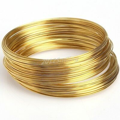 100/500loop Silver/Gold Plated Memory Steel Wire For Cuff Bangle Bracelet U Pick