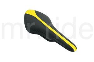 Fizik-Arione-CX-Manganese-Saddle-130x300mm-245g-Black-Yellow-Road-Bike-Bicycle