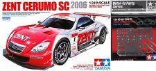 SALE LOT- Tamiya 1/24 Zent Cerumo Toyota SC430 GT Racer + Photoetch Upgrade Set