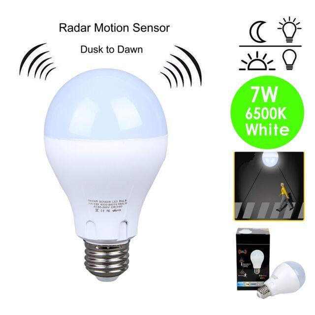 Motion Sensor Light Outdoor Dusk Dawn Led Bulb 100 Watt Equivalent Soft White