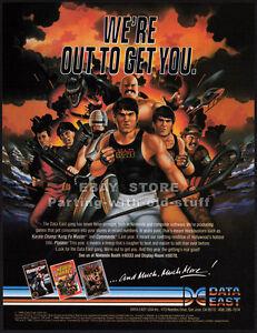 BAD-DUDES-NINTENDO-Original-1988-Trade-print-AD-game-promo-DATA-EAST