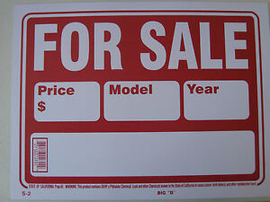 vehicle for sale sign
