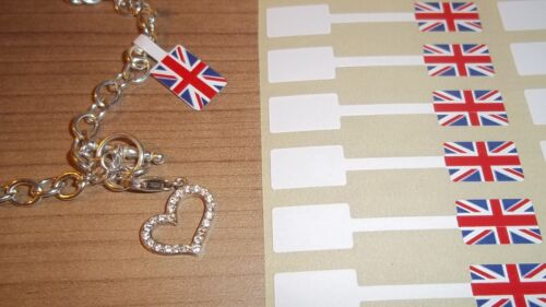Jewelry Union Jack Jewellery Price Stickers 10 x 54mm Tags Dumbells Labels