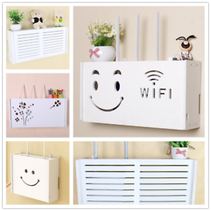 Wifi-Router-Storage-Box-Plastic-Shelf-Wall-Hanging-Bracket-Cable-Organizer-Gift