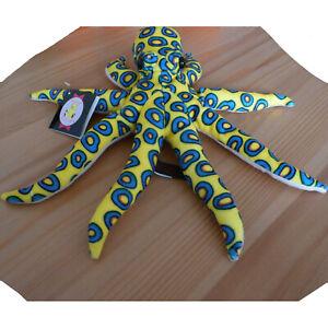 Cuddly-Blue-Ringed-Octopus-Soft-Toy-Teddy-32cm-Dowman-Soft-Touch-BNWT