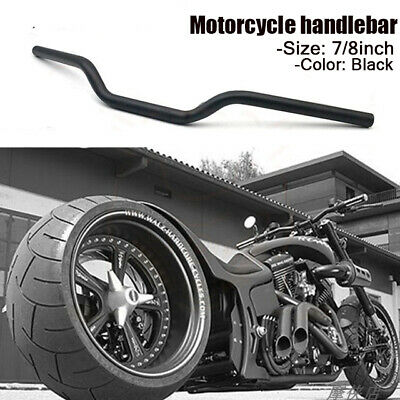 Scramblers Brat Bikes /& Streetfighters 22mm 7//8 inch for Cafe Racers Motorcycle Drag Handlebars Black Alloy