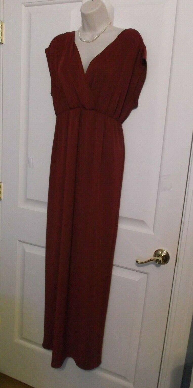 7ba3aabc6941 NEW TALBOTS Full Length Red Stretch Jersey Maxi Dress Sz Sz Sz L 12 14 MSRP  169 NWOT f04d52