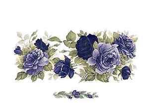 """Flower Heart Wreath Wrap Wraparound 1 pc 8/"""" X 3/"""" Waterslide Ceramic Decal Xx"""